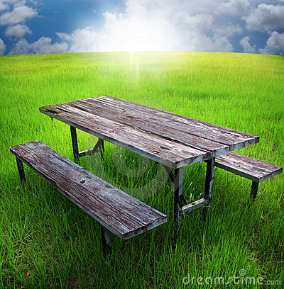 Free Picnic Table Royalty Free Stock Image - 10033226