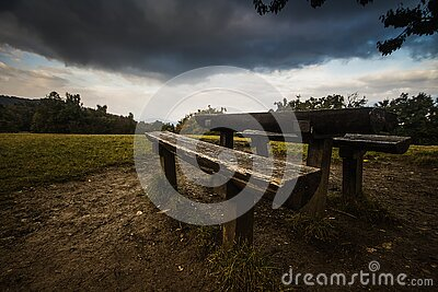 Picnic Table On Grass Field During Daytime Free Public Domain Cc0 Image