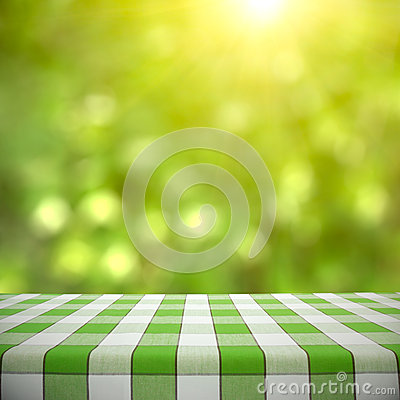 Free Picnic Table On Green Bokeh Stock Photography - 37698872