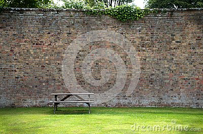 Picnic Table and wall