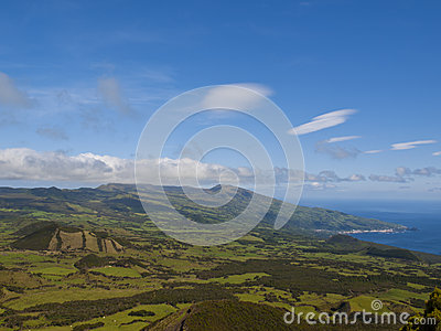 Pico island and ocean