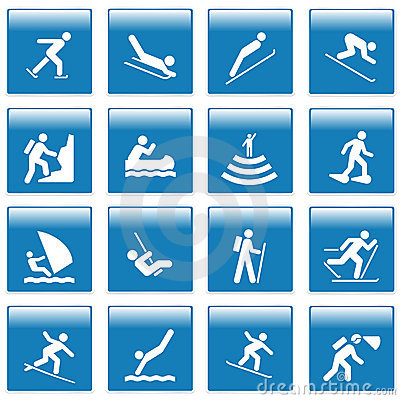 Free Pictogram With Sport Activities Stock Photo - 13094440
