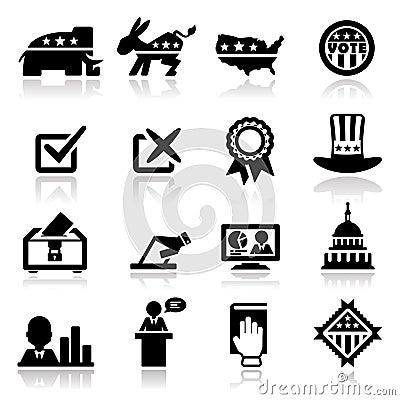 Pictogrammen geplaatst verkiezing