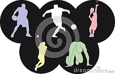 Pictogrammen van Olympics sporten