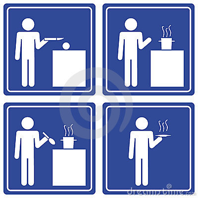 Pictograph - cooking, male