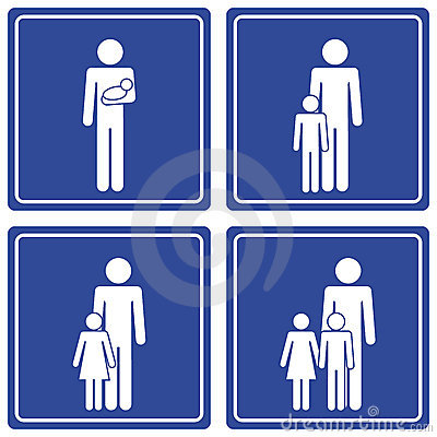 Pictograph; family - 2 dads