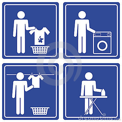 Pictograph - Laundry, male