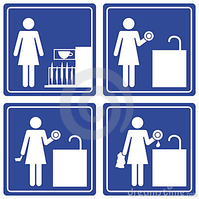 Pictograph - washing dishes