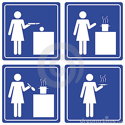 Pictograph - woman cooking