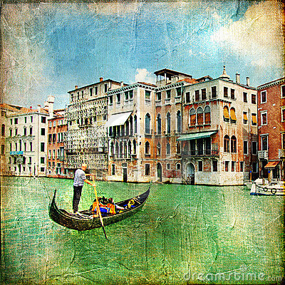 Pictorial canals of Venice