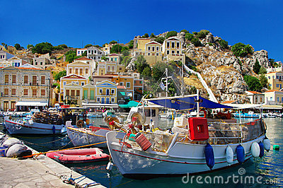 Pictorial Greek islands seres