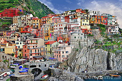 Pictorial Ligurian coast