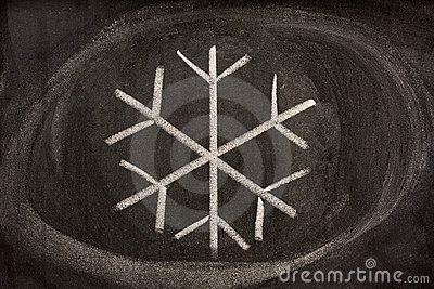 Pictorial sign for crystallized water or snow