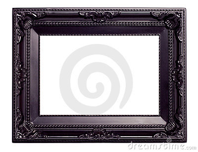 Picture black frame with a decorative pattern