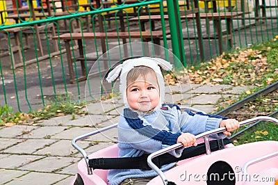 Picture of boy on park amusement