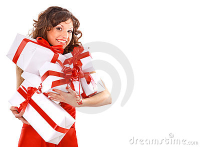Picture of cheerful santa helper