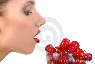 Picture of cherry and lips