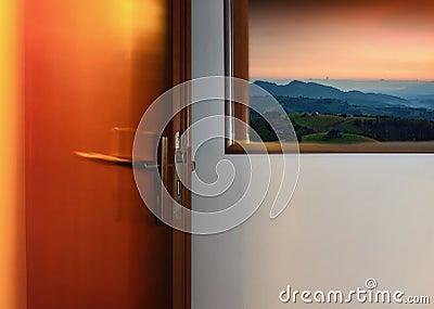 Picture by door