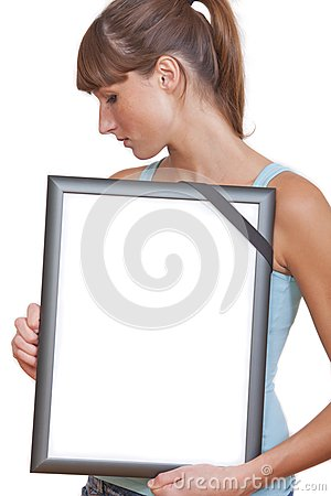 Picture frame with black band