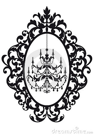 Picture frame with chandelier