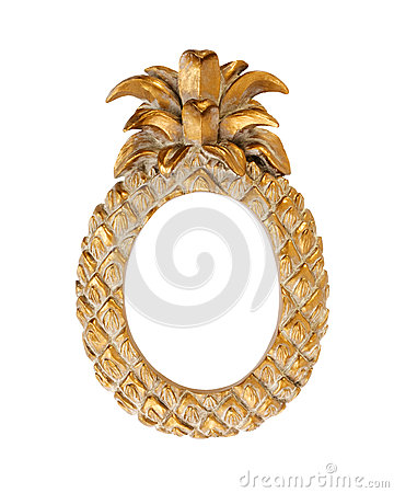 Picture Frame Gold Fancy Pineapple Shape