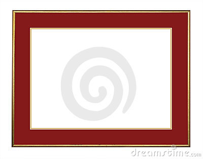 Picture frame in gold, isolated
