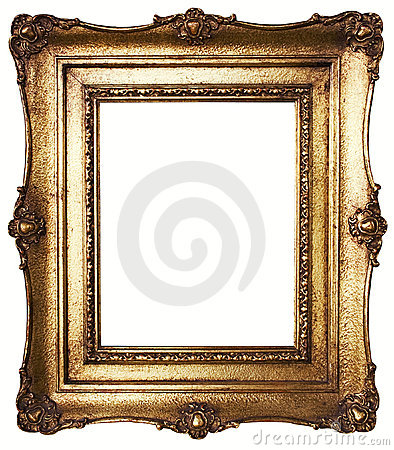 Free Picture Frame Gold (Path Included) Stock Photos - 432413