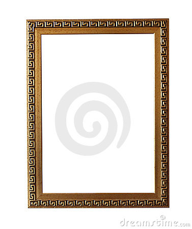 Picture frame with meander