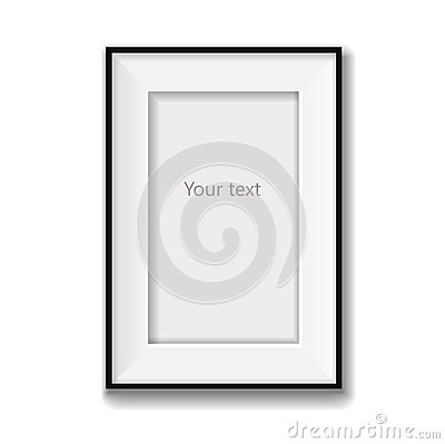 Picture frame vector isolated on white background Vector Illustration
