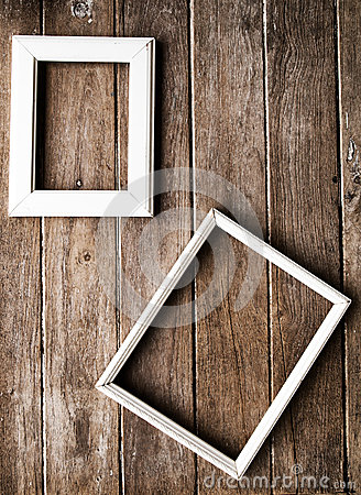 picture frame on the Wooden  wall
