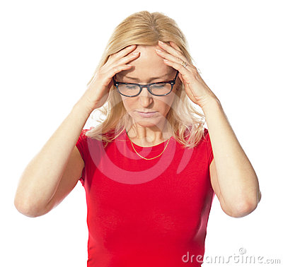 A picture of a frustrated woman
