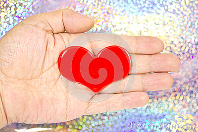 Heart that was placed on my palm