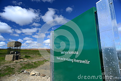 Picture of hveravellir Signage, Iceland Editorial Photo