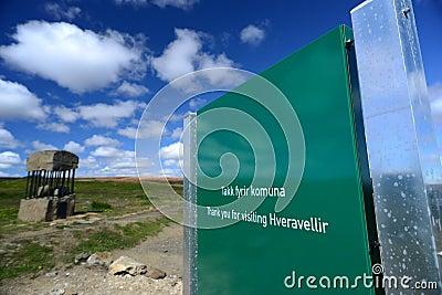 Picture of hveravellir Signage, Iceland Editorial Photo