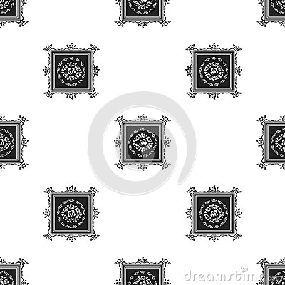 Picture icon in black style on white background. Museum pattern stock vector illustration. Vector Illustration