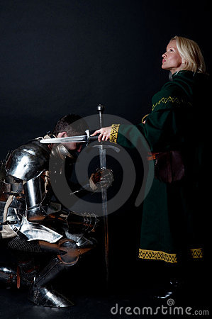 Picture of lady and knight