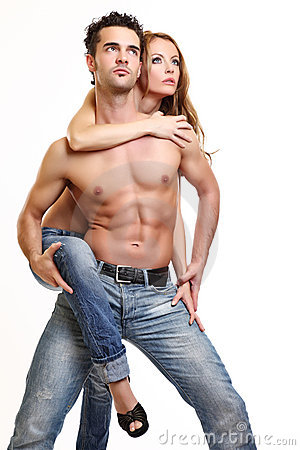 Free Picture Of A Topless Couple Stock Image - 16858661