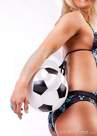 Free Picture Of Sexy Soccer Fan Stock Photography - 14369142