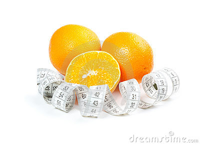 Picture of oranges and measure tape