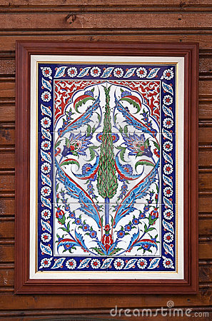 Picture with oriental tiles - RAW format