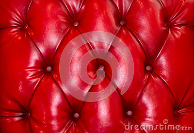 Picture of red genuine leather