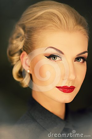 Picture Of A Retro Woman Portrait Stock Photos - Image: 24452963