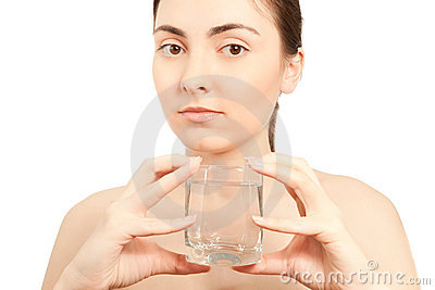 Picture of woman with a glass of water