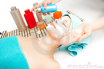 Picture of woman at spa procedures