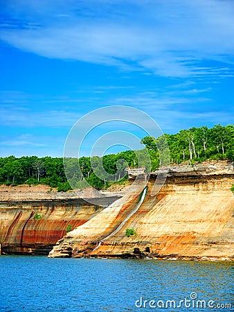 Free Pictured Rocks Bridalveil Falls Michigan Stock Photos - 53350513