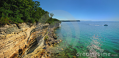 Pictured Rocks National Lake Shore, Michigan USA