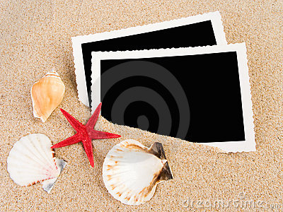 Pictures in a beach concept