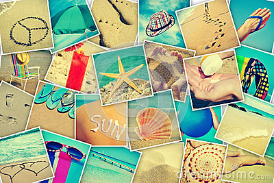 Pictures of different summer sceneries
