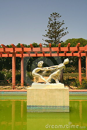 Picturesque arabic garden