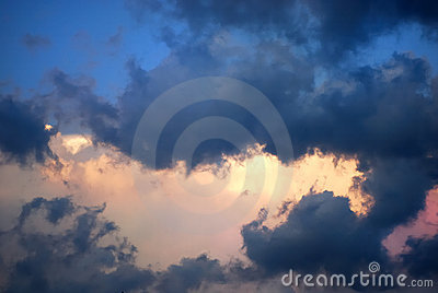 Picturesque clouds are in sky